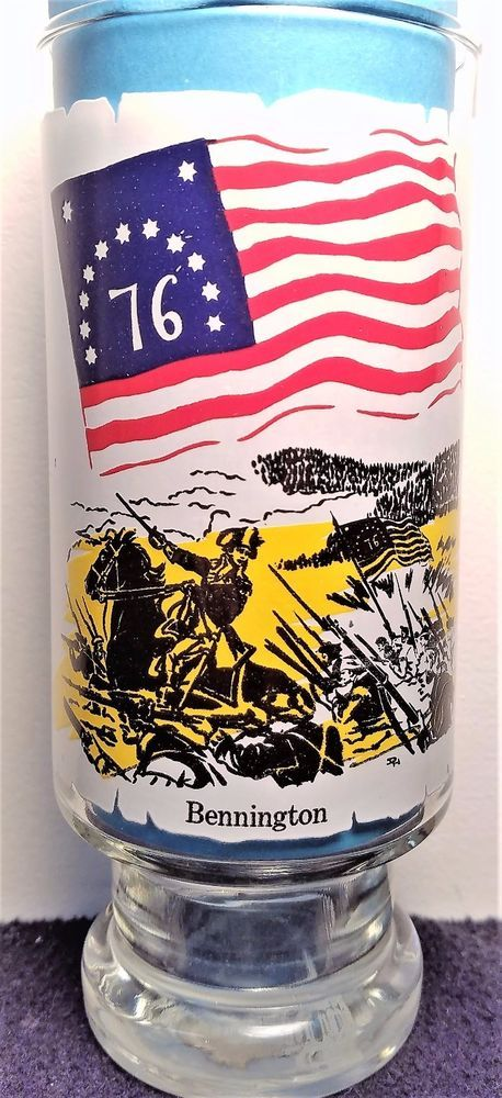Flags For Freedom - Vintage 1976 - Bennington Series 6 Coca Cola Pedestal Glass #CocaCola