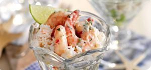 The light, fresh flavours of this summer crab and prawn cocktail are guaranteed to delight!