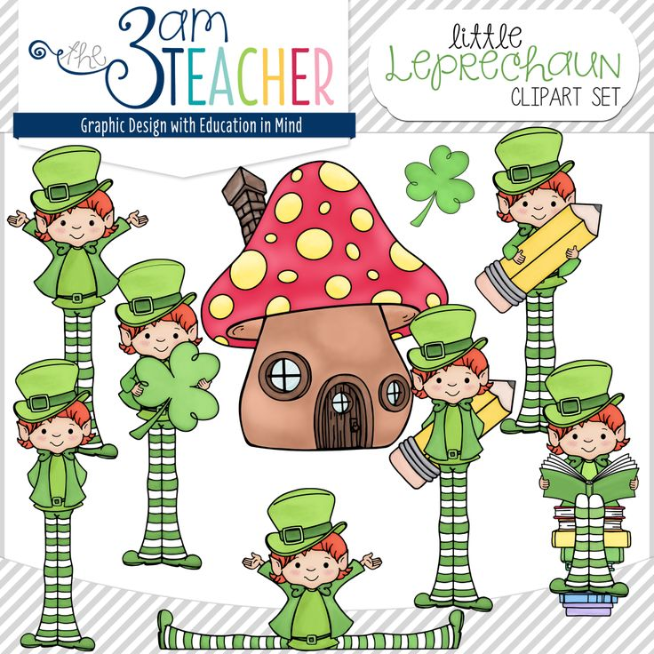 Hand-Painted Little Leprechaun Clipart Set by The 3AM Teacher!!! $  Etsy: https://www.etsy.com/listing/181900910/little-leprechaun-clipart-set  Website:http://www.3amteacher.com/store/p19/Little_Leprechaun_Clipart_Set.html