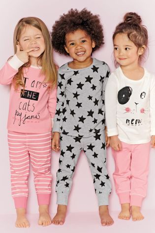 Buy Three Pack Cat Snuggle Pyjamas (12mths-8yrs) online today at Next: United States of America