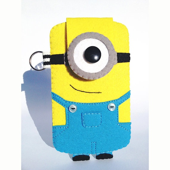 iPhone/Samsung Galaxy/iTouch Minion Felt Case by rabbitrampage, $25.00