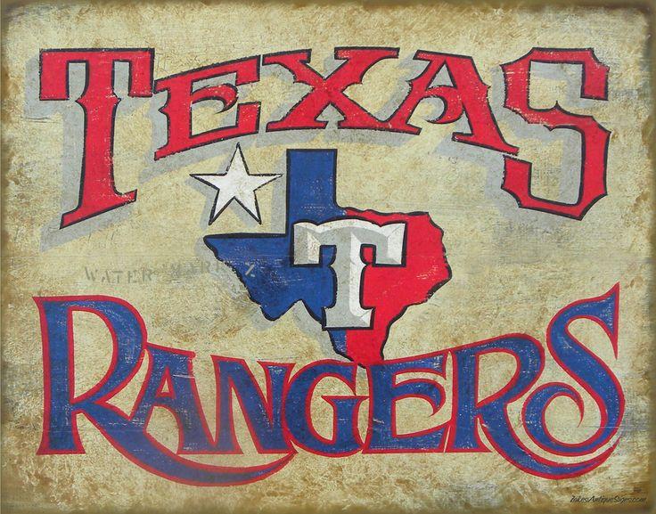 Texas Rangers Baseball Printwith MAT original by ZekesAntiqueSigns
