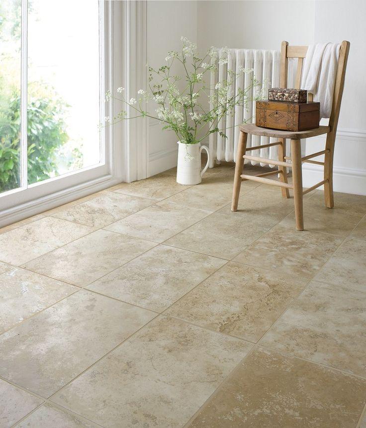 Travertine Filled Honed Floor Tile (40x61cm) | Topps Tiles