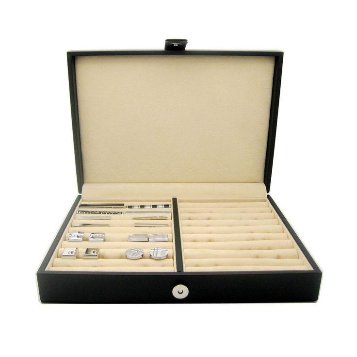 Honey Bear Mens / Women Cufflinks Jewellery Storage Box Case With Black Leath...  | eBay