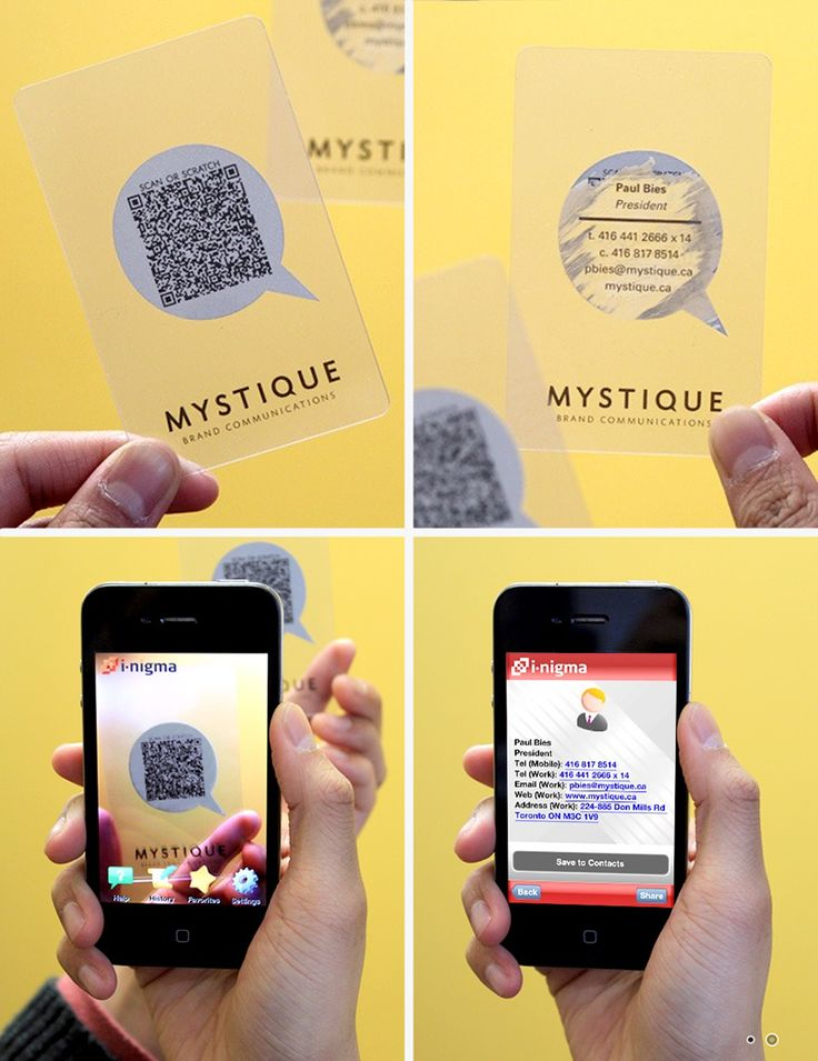 Scratch or Scan Business Card by Mystique Brand Communications (via Creattica)