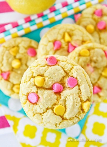 Great dessert for a spring BBQ or a baby/bridal shower. Fresh flavor and bright colors make for a fun spread on your dessert table!