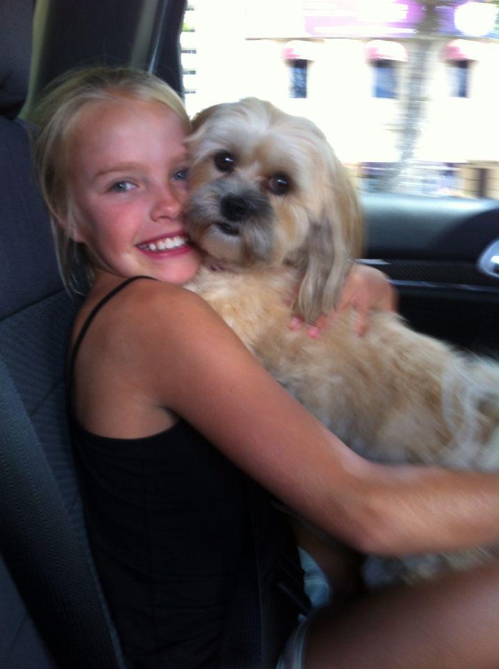 My BFF ebony with her dog LULU