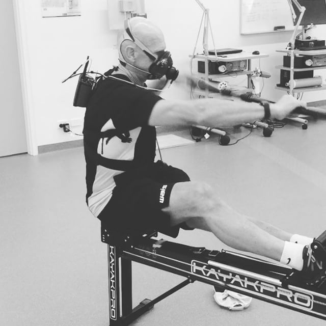 Is that Bane or WAIS kayak coach Ramon 'Rambo' Andersson on the ergo?