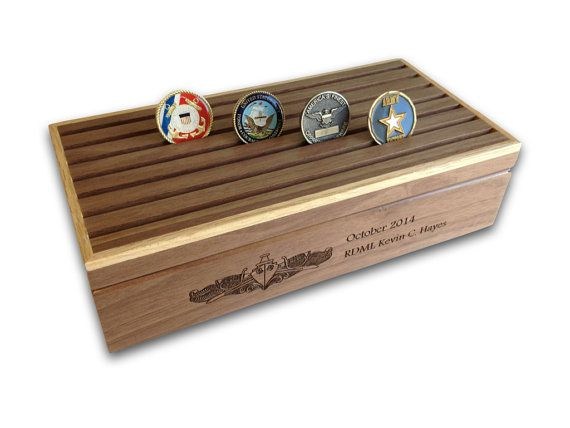 Personalized Challenge Coin Keepsake Box
