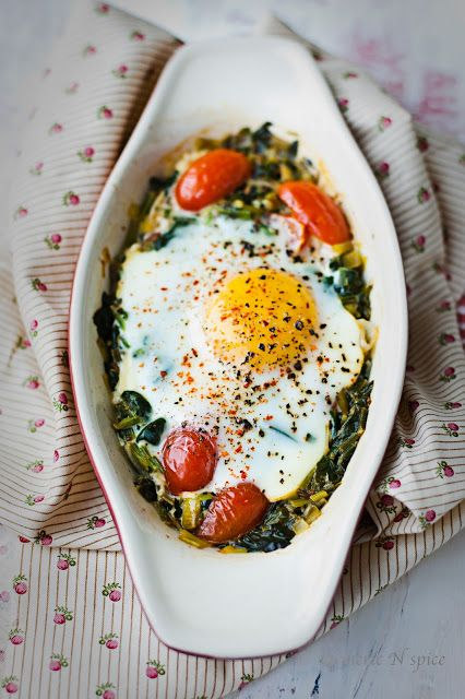 Baked Spinach http://turmericnspice.blogspot.com/2013/03/baked-spinach-curry.html