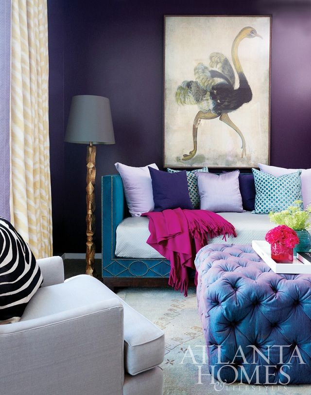 Violet Room Design: 253 Best Images About Combo Of Blue & Purple Interior