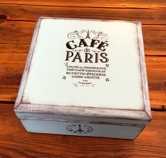Petite boîte décorative en bois esprit vintage par Elo Little Box