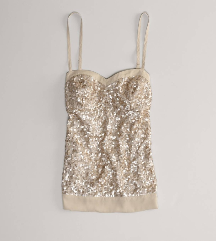 {pretty sequined corset tank from american eagle}