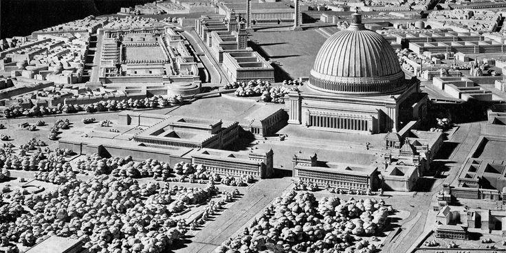 Реконструкция Берлина при Гитлере, арх. Альберт Шпеер (макет), 30-е годы.(купол 220 м)