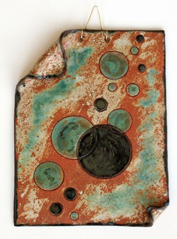 Contemporary Ceramic Wall Hanging Abstract Clay by CeramicDesires, $70.00