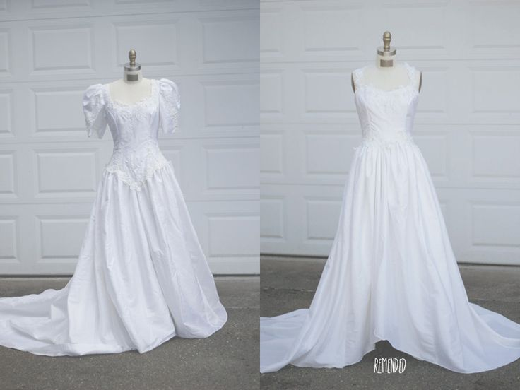 70 best old bridal gowns redone images on pinterest for Thrift store wedding dress