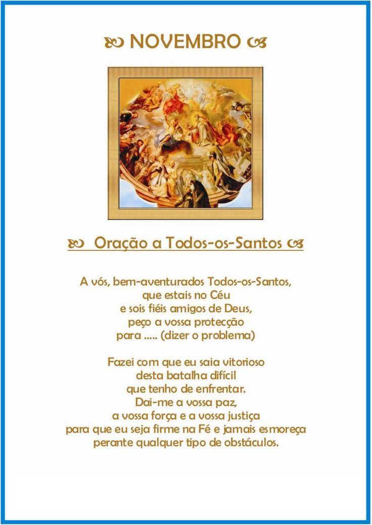 Oração de proteção para o mês de Novembro - Todos-os-santos