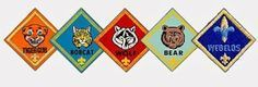 A cheer for each cub scouting rank. Wouldn't this be great for pack meeting, a special cheer for each rank advancement?