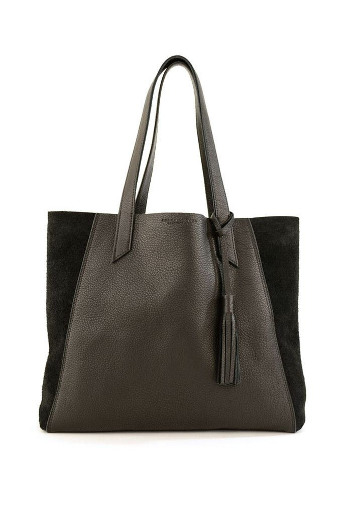 Black Leather June Tote by Shana Luther in Brooklyn, NY. Shop on Young & Able