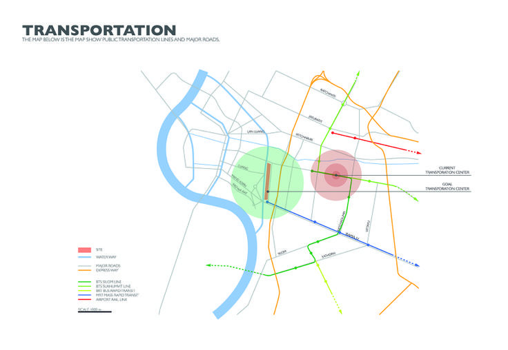 Site analysis: Transportation | Architectural Design III
