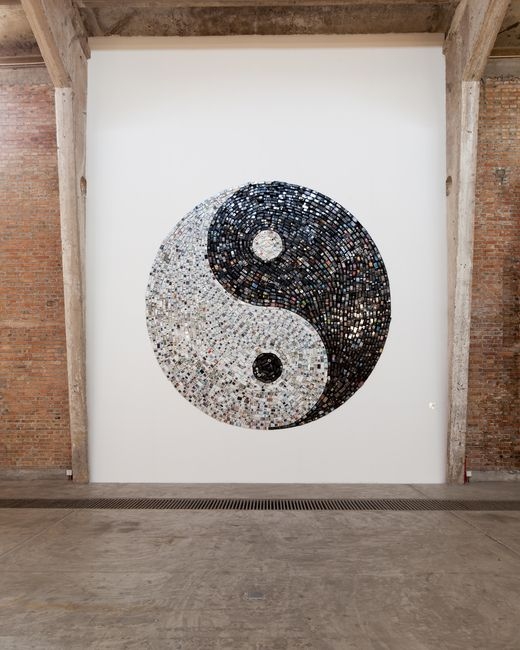 Sislej Xhafa, This Call May Be Recorded For Quality Service, 2012, used black and white mobile phones. Galleria Continua Beijing, 2012. Photo by: Eric Gregory Powell.