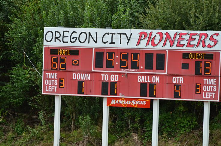 Oregon City High School Scoreboard |Be sure and checkout the school website at OCHSPioneers.org and our Facebook page for news and updates.