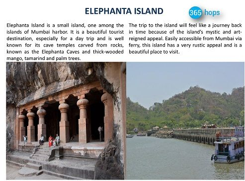 ELEPHANTA ISLAND >> #ElephantaIsland is a small island, one among the #islands of Mumbai harbor. It is a beautiful tourist destination, especially for a day trip and is well known for its cave temples carved from rocks, known as the #ElephantaCaves and thick-wooded mango, tamarind and palm trees. #365hops #India