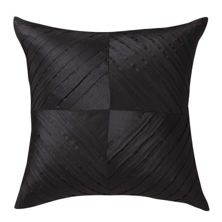 LOGAN & MASON ACCESSORIES - Kaleidoscope Black European Pillowcase #black #accessories  #home #décor #style #fashion #loganandmason