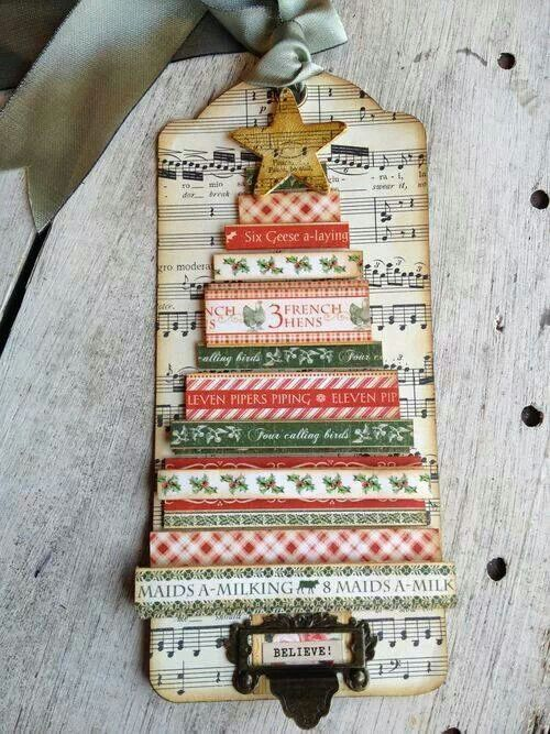 Christmas tag could use washi tape