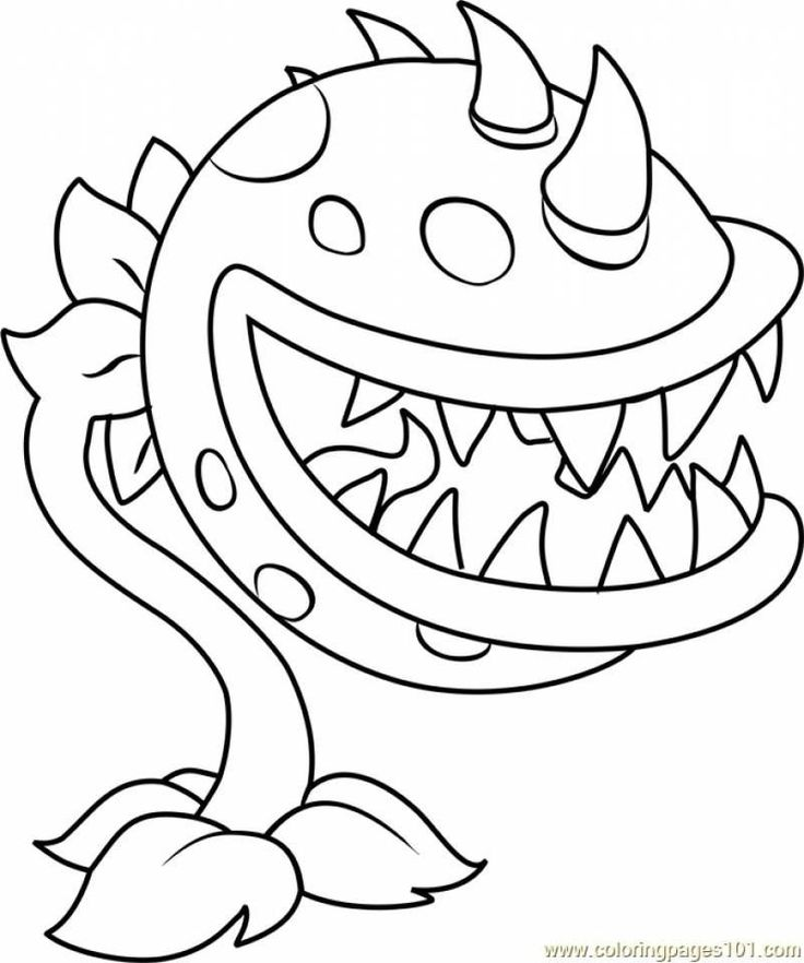 Plants Vs Zombies Coloring Pages   Monster coloring pages ...