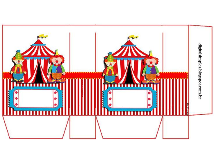 El Circo: Bolsas de Papel para Imprimir Gratis.