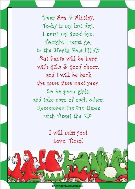 Best 25 Elf goodbye letter ideas on Pinterest Elf letters Elf