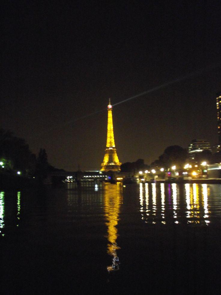 Eiffel tower from the Seine #byboat #toureiffel  #eiffeltower