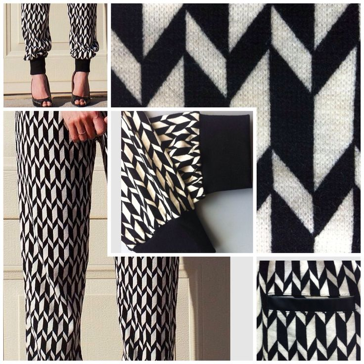 Stunning black & white print slim line harem pants only AUD$35 + postage