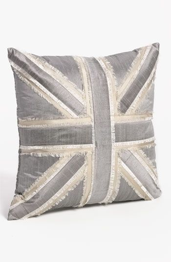 metallic union jack pillow | nordstrom