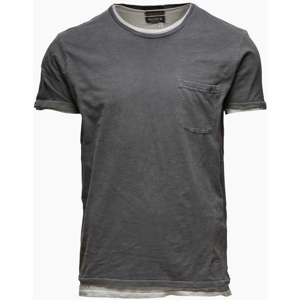 JACK & JONES VINTAGE Vintage Double Tee (6.975 HUF) ❤ liked on Polyvore featuring men's fashion, men's clothing, men's shirts, men's t-shirts, men, tops, mens clothing, pirate black and shirts