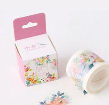 4 cm Geniş Taze Tarzı Suluboya Çiçek Washi bant Yapışkan Bant DIY Scrapbooking Sticker Etiket Maskeleme bandı(China (Mainland))