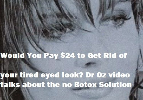 Dr Oz Talks Peptide creams and serums..no botox needed, but similar results.. video says that by using the peptide based