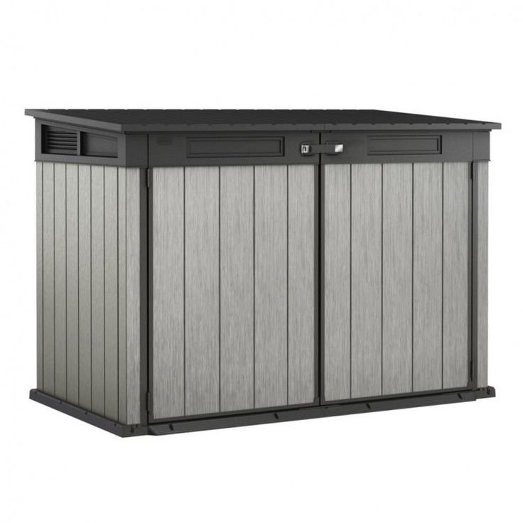 Garden House Shed Storage Outdoors Patio Trunk Bin Chest Cabinet Grey Furniture #GardenHouseShed