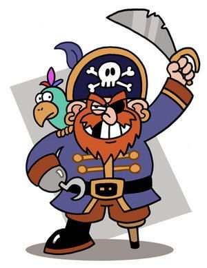 """""""Aujourd'hui, c'est la journée internationale du parler pirate ! Ça tombe bien, nous avons toujours le concours """"Dessine-moi un Mr. Vincent"""" en cours.  Yarrrg !!! Matelots, qu'attendez-vous pour monter sur ce vieux rafiot, mille milliards de mille sabords !! http://www.vendredilecture.com/septembre-en-folie/"""" (19/09/2012)"""