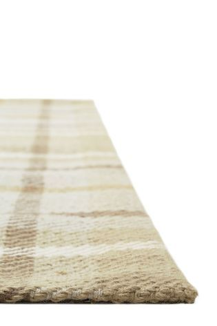 Buy Wool Natural Check Rug from the Next UK online shop