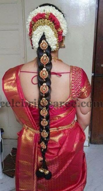 Bride in Simple Silk Blouse | Saree Blouse Patterns