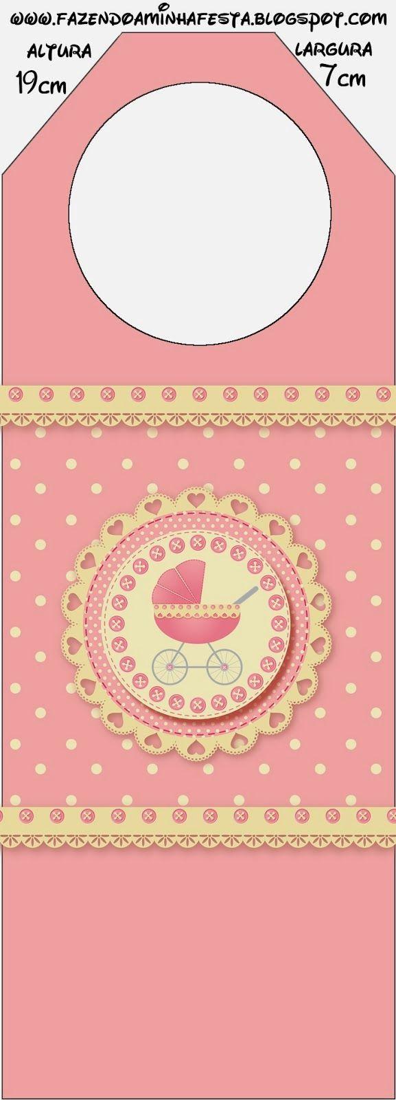 Cochecito Rosa: Tarjetería e Imprimibles Gratis para Candy Bar.