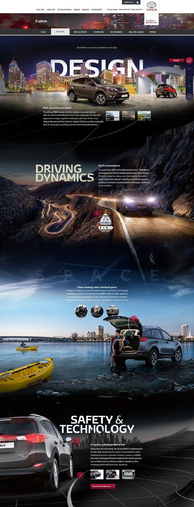 Cool Automotive Web Design on the Internet. Toyota. #automotive #webdesign #webdevelopment #website