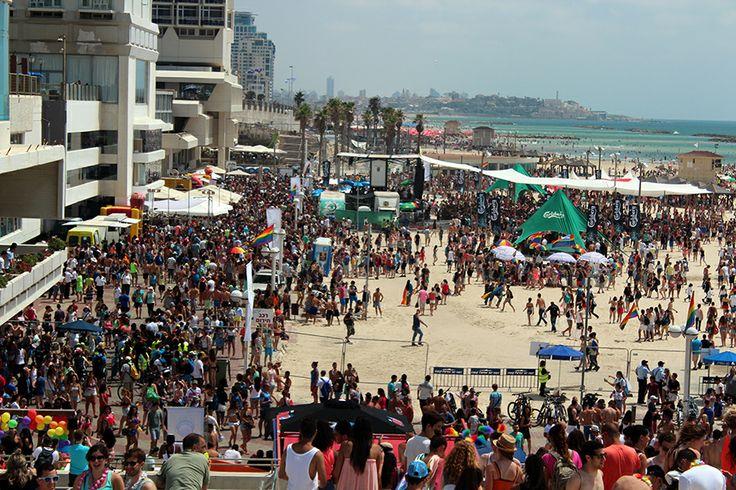 Beach Party in Tel Aviv | http://travelsofadam.com/2013/06/tel-aviv-pride/ | #israel #telaviv #gaypride