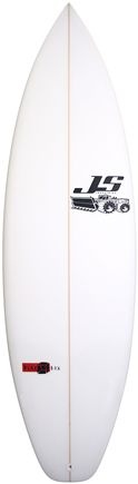"JS surfboard Blak Box at 6' x 20"" x 2 1/2"""
