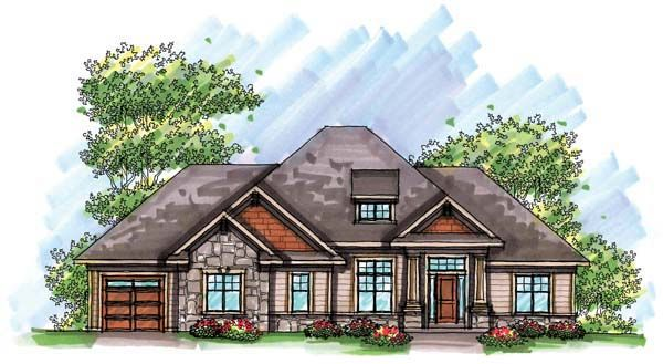 Country Craftsman European Ranch House Plan 72943 House