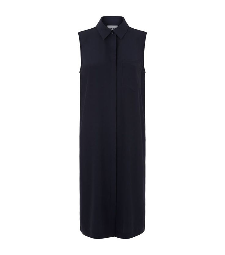DKNY Sleeveless Shirt Dress Navy | Harrods