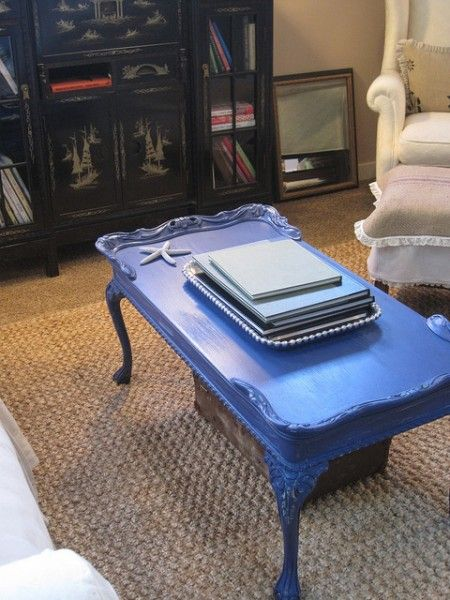 The tale of a blue coffee table