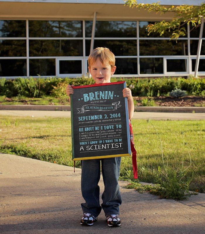 Back to school Poster First day of school by SugarPickleDesigns, $16.00